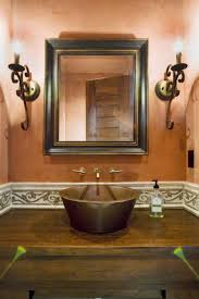 Guest Bathroom Vanity by Rustiv Brown Wooden Bath Vanity With Brown Wooden Sink And Wall