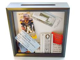 graduation memory box ticket holder black shadow box ticket keeper ticket shadow box