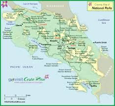 parks map costa rica national park map costa rica go visit costa rica