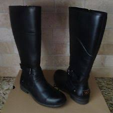 ugg womens boots with zipper ugg alba black leather asymmetrical topline zipper womens boots us