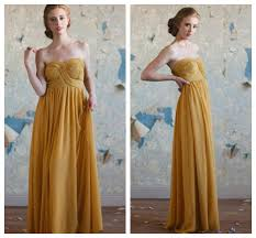 bridesmaid dresses in gold