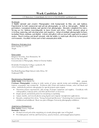 sample resume for bartender ideas of sample resume photographer with summary sioncoltd com ideas of sample resume photographer with summary