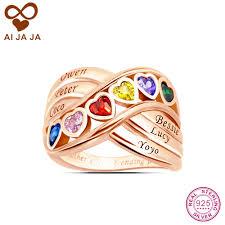 Personalized Names Aliexpress Com Buy Aijaja 925 Sterling Silver Personalized