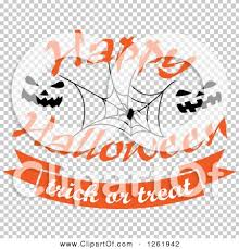 clipart of a happy halloween trick or treat design with a spider