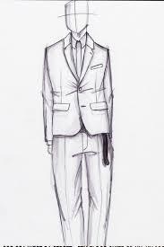 quick ball point and prismacolor illustration shrunken suit w