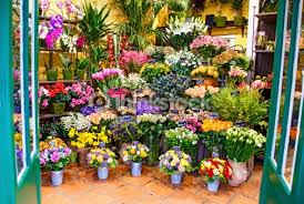 flower shop entrance to the flower shop stock photo thinkstock