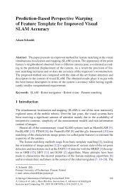 How To Put References On Resume Prediction Based Perspective Warping Of Feature Template For