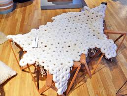 fabrica u0027s uniquely textured polar bear rug is upcycled from