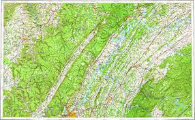 Chattanooga Map Download Topographic Map In Area Of Chattanooga Oak Ridge