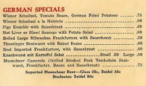 german cuisine menu grems doolittle library collections food without