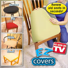as seen on tv chair covers as seen on tv ez covers 4pc beige renew seat cushions