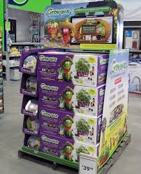 supermarket christmas cardboard paper pallet display stand view