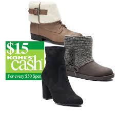 womens boots kohls s boots various styles 15 in kohls slickdeals