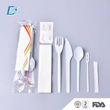 plastic cutlery wholesale handle airline disposable plastic cutlery with