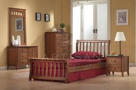 Milan Bed Frame Milan Oak Wooden Sleigh Bed 3ft 4ft 4ft6 5ft Majestic