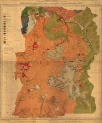 Map Of Yellowstone Park Geological Map Of Yellowstone National Park 1878