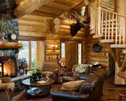 Log Home Decorating Charming Log Cabin Living Room On Home Decorating Ideas With Log