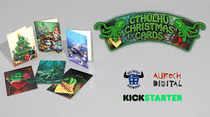 digital christmas cards cthulhu christmas cards by auroch digital kickstarter