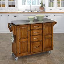 home depot kitchen island home styles kitchen cart with stainless top 5217 95 the