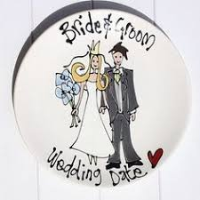and groom plates personalized and groom plate 86 by artist timree wedding