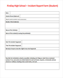 medication incident report form template 39 free incident report templates free premium templates