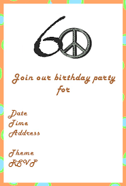 creative invitation ideas for 60th birthday