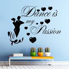 compare prices on dance quotes wall stickers online shopping buy music dance wall decal girl man dancing quote dance is my passion wall sticker dance room