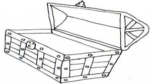 empty treasure chest coloring page coloring pages ideas