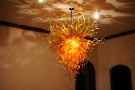 Art Glass Chandeliers Gold Amber Orange Chandelier Art Glass Chandeliers Gallery