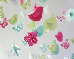Gorgeous Hanging Butterfly Themed Baby Shower Hanging Paper