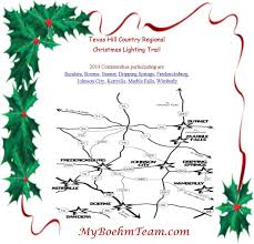 Map Of Texas Hill Country The Hill Country Regional Christmas Lighting Trail