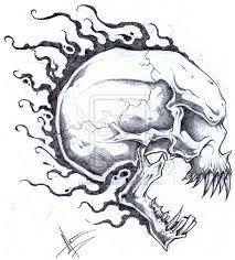 designs flaming skull designs