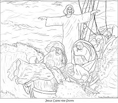 coloring page of jesus jesus calms the storm coloring pages draw 3915