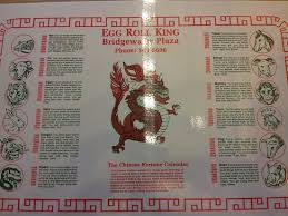 zodiac placemat placemat with zodiac picture of egg roll king bridgewater
