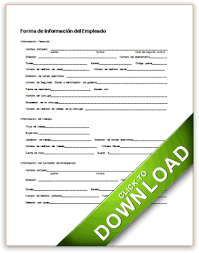 employees information sheet basic employment information spanish