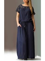 maxi size plus size maxi dress navy blue lace drawstring
