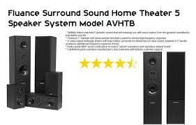 surround sound home theater system fluance surround sound home theater 5 speaker system model avhtb