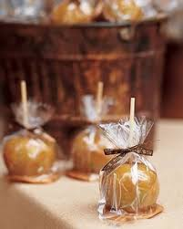 Caramel Candy Apples Wedding Favors