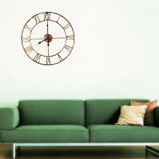 Home Decor Clocks 18 5 Inch Decoative Wall Clocks 3d Iron Wall Clock Home Decor