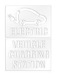 electric vehicles logo rae charging station electric vehicle stencil plug text