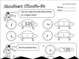 rocket clock it a year 3 time worksheet
