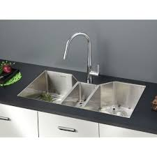 Faucets For Kitchen Fantastic Kitchen Faucet For Triple Bowl Sink U2013 The Top