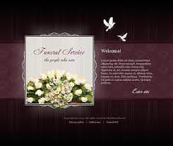 funeral service flash website template best website templates