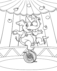 Printable Circus Coloring Pages Coloring Me Circus Coloring Page