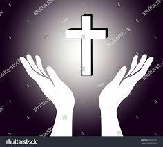 hand cross jesus christ sign stock vector 400973770 shutterstock