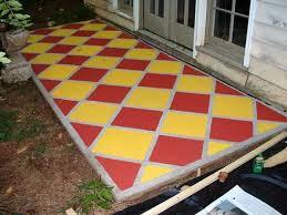 Outdoor Concrete Patio Paint 61 Best Painted Concrete Images On Pinterest Concrete Staining