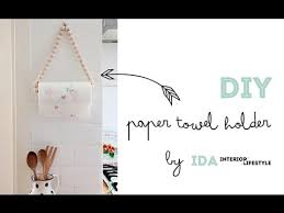 kitchen towel holder ideas diy tutorial paper towel holder