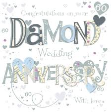 60th wedding anniversary wishes on your diamond 60th anniversary greeting card cards kates