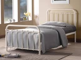 white metal bed frame full home design ideas