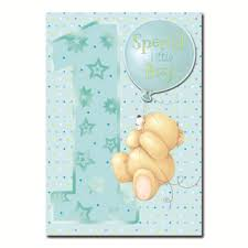 1st birthday special little boy forever friends card forever